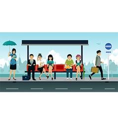 Bus Stop vector image