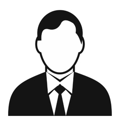 Businessman avatar simple icon vector image vector image