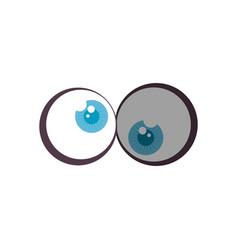 comic crazy eyes icon vector image