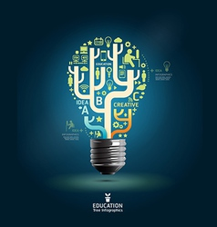 Creative light bulb Abstract infographic Design vector image vector image
