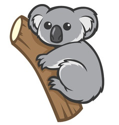 cute koala on a tree vector image