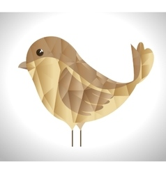 Cute ornamental bird icon vector