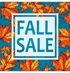 Fall sale seasonal banner vector