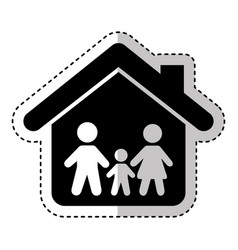Family insurance silhouette icon vector