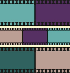 Film strips seamless pattern vector image