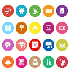 General office flat icons on white background vector