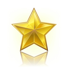 gold five star vector image vector image