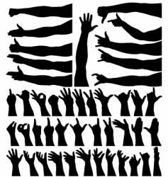 Hands and arms vector