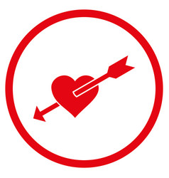 Heart arrow rounded icon vector