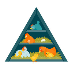 Henhouse triangle vector