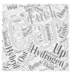 Hydrogen cars vs hybrid cars word cloud concept vector