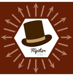 Hypster style design vector