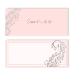 Invitation cards for wedding engagement vector