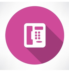 landline phone icon vector image