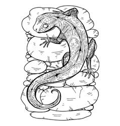 Lizard tropical vector image