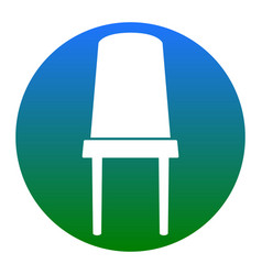 Office chair sign white icon in bluish vector