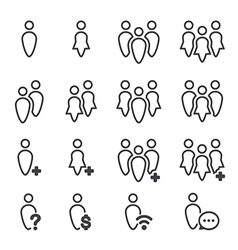 people icon line vector image