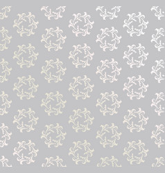 seamless flower pattern abstract floral ornament vector image