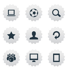 Set of simple game icons vector