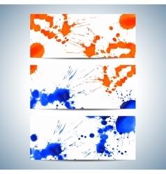Set of watercolor horizontal backgrounds Modern vector image vector image
