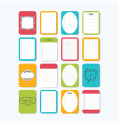 Sheets of paper collection of various note vector