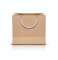 shopping paper bag vector image
