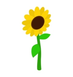 Sunflower icon isometric 3d style vector image vector image
