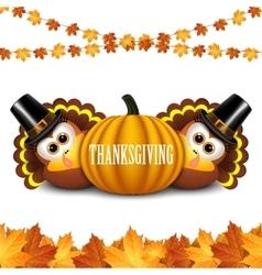 Turkeys for Thanksgiving vector image
