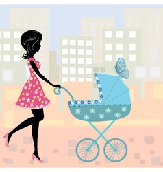 Woman pram7 vector image