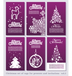 Christmas tags vector image