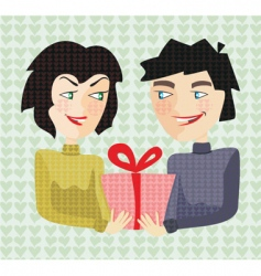 giving present vector image
