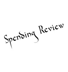 Spending review rubber stamp vector