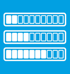 Sign horizontal columns download online icon white vector