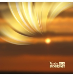 Beautiful abstract lights over sunset blur vector