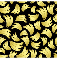 Colorful yellow bananas fruits seamless black vector