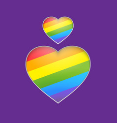 Rainbow heart  eps 10 vector image