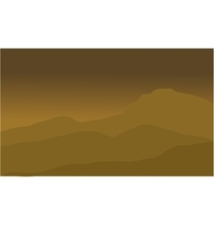 The desert landscape vector