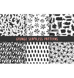 Set of six stylish patterns vector