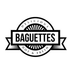 Baguettes vintage sign or stamp vector