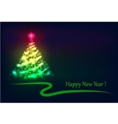 Christmas tree shining vector image