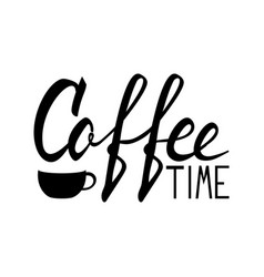 Coffee lettering logo vector