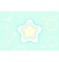 Cute abstract green mint and yellow winter star vector