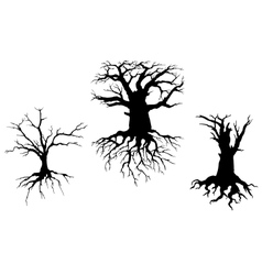 Dead trees for ecology design vector
