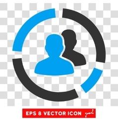 Demography diagram eps icon vector
