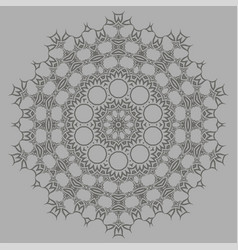 Grey ornamental pattern vector