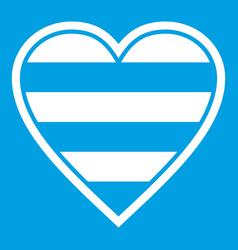 Heart lgbt icon white vector