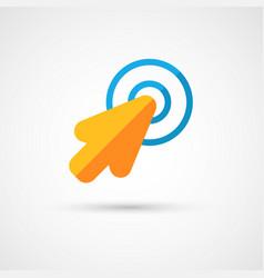 Mouse cursor click icon vector