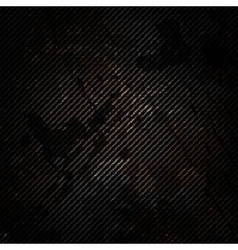 Old metal background with carbon texture vector image