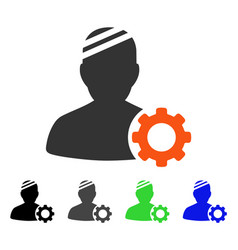 Patient options gear flat icon vector