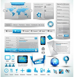 Premium templates and Web stuffs vector image vector image